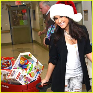 Adrienne Bailon Brings Christmas to Children