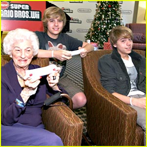 Dylan & Cole Sprouse Play Video Games with the Elderly