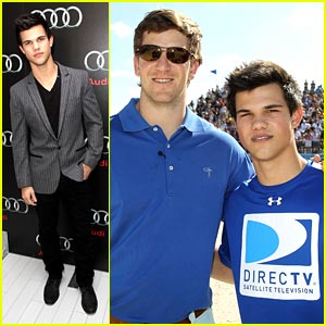 Taylor Lautner: Go Blue Team, Go!