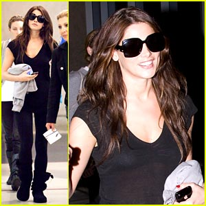 Ashley Greene Lands at LAX