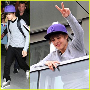 Justin Bieber: Purple Cap Makes It To Paris