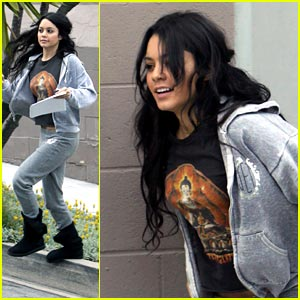 Vanessa Hudgens Picks Up The Studio Step