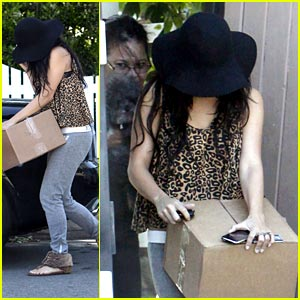 Vanessa Hudgens: Box Carrying Cute
