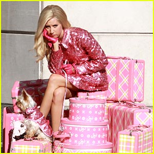 Ashley Tisdale's Pile of Pink