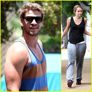 Miley Cyrus & Liam Hemsworth: Gym Junkies