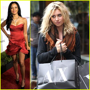 Aly Michalka: Armani Exchange Bag Lady