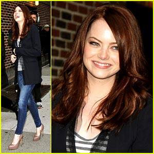 Emma Stone Does Late Night with Letterman