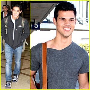 Taylor Lautner & Booboo Stewart: Turkey Day Traveling