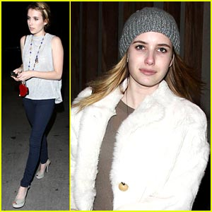 Emma Roberts Gets Take Out from Nobu
