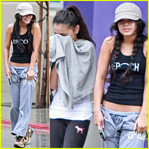 Vanessa Hudgens: Rainy Day at the Gym with Stella!