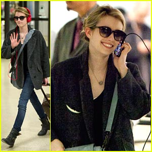 Emma Roberts: Red Hot Headphones!