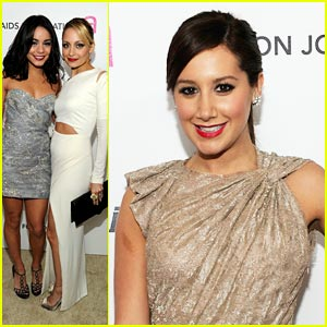 Vanessa Hudgens & Ashley Tisdale: Elton John Viewing Party!
