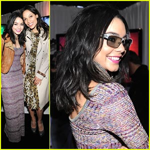Vanessa Hudgens Stripes It Up at the Spirit Awards