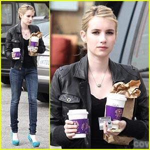 Emma Roberts: Blue Suede Stilettos!