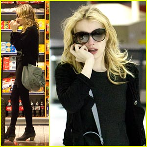 Emma Roberts Stops Off for Snacks