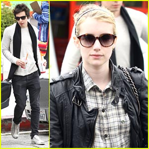 Emma Roberts Swings By Staples