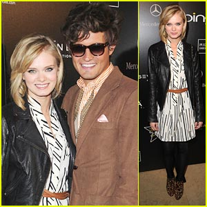 Sara Paxton: Hollywood Domino Gala with Nico Tortorella!