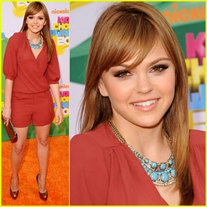 Aimee Teegarden- KCA 2011 Orange Carpet