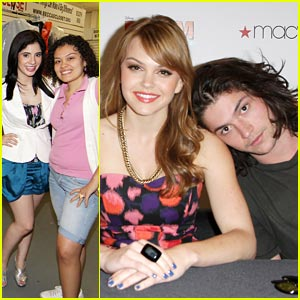 Aimee Teegarden: Macy's Prom in Miami with Janelle Ortiz &#038; Thomas McDonell!