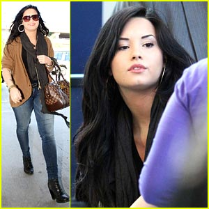 Demi Lovato: Louis Vuitton Lady at LAX