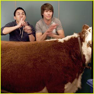 James Maslow & Carlos Pena Have A Cow