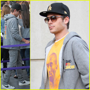 Zac Efron 'Stands Up' for the Lakers
