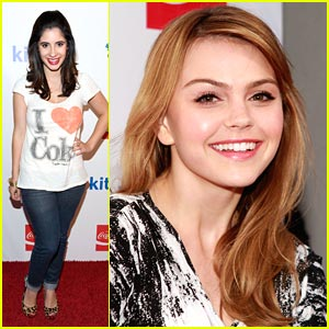 Aimee Teegarden: Coca-Cola Party with Janelle Ortiz!