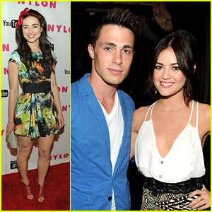 Colton Haynes: Nylon Party with Crystal Reed!