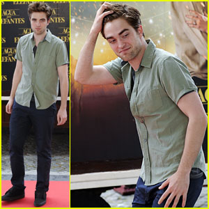 Robert Pattinson: 'Water for Elephants' Photo Call in Spain!
