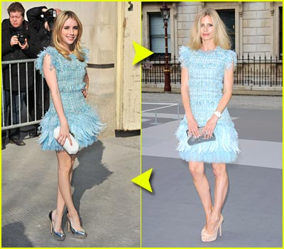 Fashion Faceoff: Chanel RTW Spring Fringe & Feather Dress