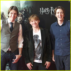 Rupert Grint, James & Oliver Phelps Bring Madrid Magic