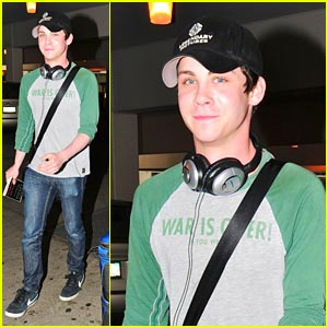 Logan Lerman Makes A 'Legendary' Landing