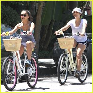 Vanessa & Stella Hudgens: Sister Cyclists