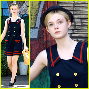 Elle Fanning Is In The Navy Now