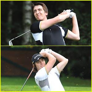 James and Oliver Phelps: Shooting Stars Golf Tournament