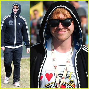 Rupert Grint: Hoodie Hidden at V Festival