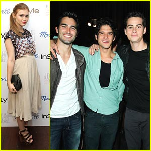 Holland Roden: Teen Vogue with Teen Wolf Guys!