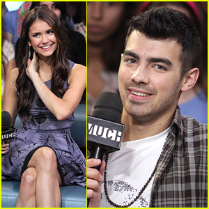 Joe Jonas & Nina Dobrev Visits New.Music.Live!