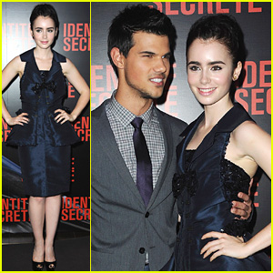 Taylor Lautner & Lily Collins: 'Abduction' Paris Premiere!