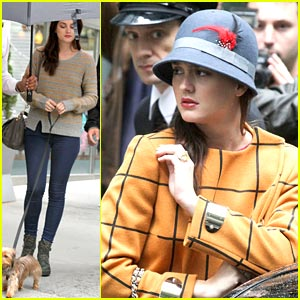 Leighton Meester: 'Sherlock Holmes' on GG Set