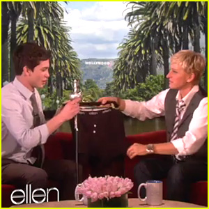 Logan Lerman Loves Ellen Underwear!