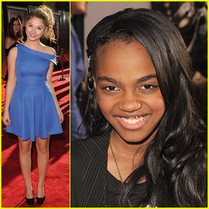 China Anne McClain & Stefanie Scott: 'Real Steel' Premiere