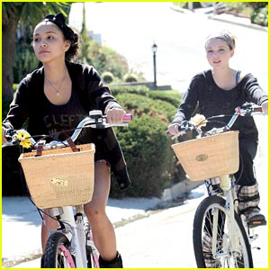Stella Hudgens & Sammi Hanratty: Bike Riding BFFs