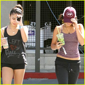 Vanessa & Stella Hudgens Hide Under Hats