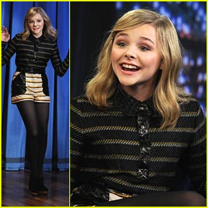 Chloe Moretz: Ice Holes with Jimmy Fallon!