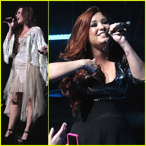 Demi Lovato Has Got 'Moves Like Jagger' in Dallas!