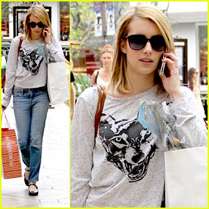 Emma Roberts: Holiday Shopping at the Grove