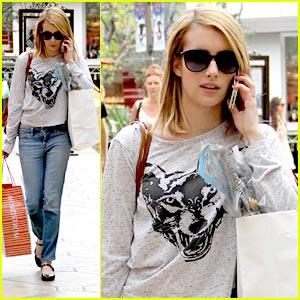 Emma Roberts: Holiday Shopping at the Grove