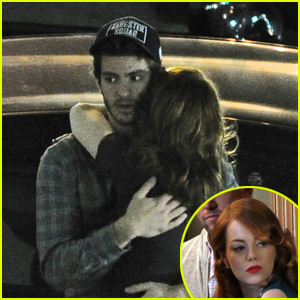 Emma Stone Hugs It Out With Andrew Garfield