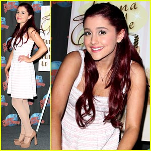 Ariana Grande 'Puts Her Hearts Up' at Planet Hollywood